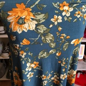 LuLaRoe Skirts - LuLaRoe Floral Azure Skirt
